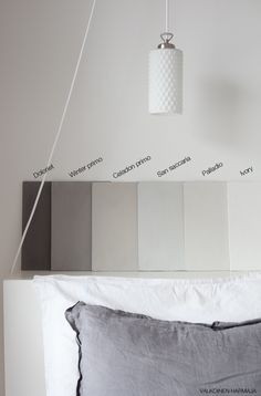 Kalklitir, maybe I will go for a light grey shade in the bedroom. Color Inspiration, Interior Inspiration, Lime Paint, Colorful Interior Design, Dream Rooms, House Colors, Home Furnishings, Room Decor, House Styles