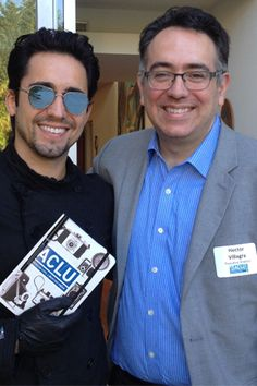 "johnlloydyoungfriends: "" John Lloyd Young and ACLU of Southern California Executive Director, Hector Villagra. Los Angeles, July 10, 2015. """