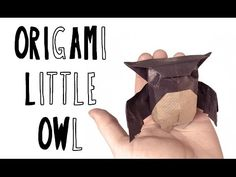 Baby Scope-Owl Origami (Riccardo Foschi) - YouTube This one looks quite complicated!