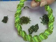 Beading4perfectionists : Dutch Spiral necklace beginners beading tutorial - YouTube