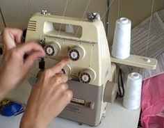 how to change thread on serger