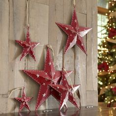 North Star Wall Decor | Warm up a room with this charming set of rustic metal stars. Hang them all together or place them separately around the room for an alluring look.