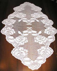 Le Creazioni di Barbara69: 31-ago-2011 Crochet Books, Crochet Art, Thread Crochet, Crochet Motif, Crochet Designs, Crochet Stitches, Crochet Placemats, Crochet Table Runner, Doily Patterns