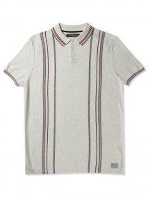 Short Sleeve Stripe Polo Top  Ben Sherman
