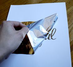 DIY gold metallic foil printing,