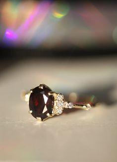 Red Garnet Ring Full Eternity Band January Birthstone Ring Layering Ring Tiny Ring Slim Ring Trending Jewelry Cool Summer Ring