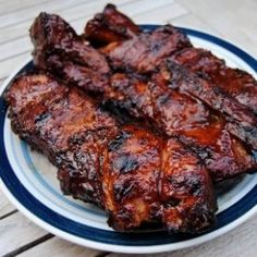 Country style pork ribs, barbecued and grilled low and slow to deliciousness