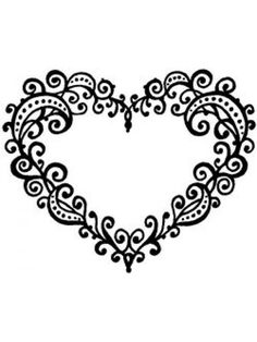 Art Stamps Swirly Heart Wooden Stamp.  Wooden Block - 88mm x 81mm  Stamp - 69mm x 56mm