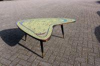 Mozaiek tafel Fifties boomerang vorm Uniek