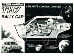 triumph tr7 rally car 70s ad