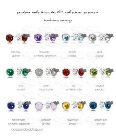 Pandora Valentine's 2017 Birthstone Earrings