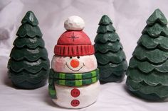 Snowman Carved Ornament by lmdickie1 on Etsy, $19.00