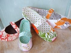 sewing pattern for Mary Jane flat slippers