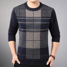 new line pull mens sweaters casual thick male pullover sweater slim fit men blusa masculina clothes jersey sweter man 31890 Mens Knitted Cardigan, Pullover Sweaters, Men Sweater, Sweatshirt, Sweater Outfits, Casual Outfits, Men Casual, Smart Casual, Mens Clothing Styles