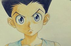 "Gon Freecs sketch by Takehiko Abiru, the animator who served as animation director on the ""Hunter x Hunter"" end credits."