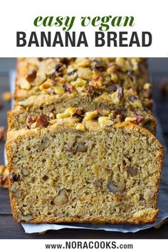 Vegan Banana Bread recipe, made in 1 bowl! Add walnuts or chocolate chips. Easy Vegan Banana Bread recipe, made in 1 bowl! Add walnuts or chocolate chips.Easy Vegan Banana Bread recipe, made in 1 bowl! Add walnuts or chocolate chips. Best Vegan Banana Bread Recipe, Healthy Banana Bread, Banana Bread Recipes, Vegan Banana Muffins, Banana Walnut Bread Healthy, Dairy Free Banana Bread, Coconut Flour Banana Bread, Vegan Pumpkin Bread, Lemon Bread