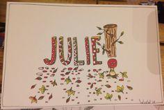 Kaartje voor pasgeboren Julie