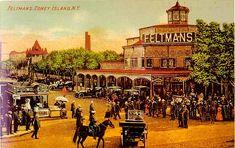 Coney Island restaurant images   Feltman's Restaurant along Surf Avenue - 1890's