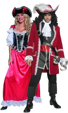 Authentic pirate costumes for couple: Deluxe Pirate costume for women Sublime women's pirate costume. This costume includes the bustier quality leather effect with white embroidered sleeves. Everything is sewn to a beautiful red. Adult Costumes, Costumes For Women, Halloween Costumes, Pirate Costumes, Authentic Pirate Costume, German Wedding, Female Pirate Costume, Pirate Fashion, Disney Cruise