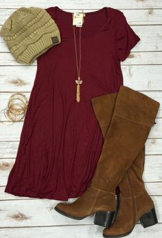 To a Tee Tunic: Burgundy