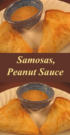 Samosas, made the easy way with purchased phyllo dough, and baked - for the healthy way. All good!