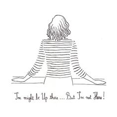 I'm not Here.. illustration art by The Twee Tomboy