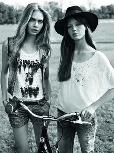 Cara Delevingne, Jeremy Young & Mia Goth for Pepe Jeans Spring Summer 2013.