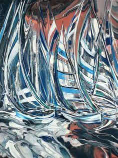 "Daily Paintworks - ""White Yachts"" - Original Fine Art for Sale - © Khrystyna Kozyuk"