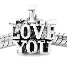 I love you charms. Win it today only on Tophatter.com! Starts at $5 Tophatter Euro Bracelet Supplies No.51 February 28, 8pm EST