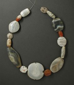 Bactria - agate necklace, 2200 - 1800 BC