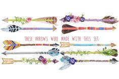 Create Your Own Watercolor Arrows Clip Art by DigitalPressCreation