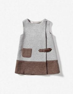 Perfect with little boots and tights in winter Knitted Pinafore Dress / ZARA