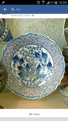 Ohhh MY GOD <3 Plate Wall Decor, Plates On Wall, Love Blue, Blue And White, Turkish Design, Turkish Tiles, Historical Art, Tile Art, Decorative Plates