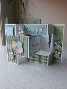 Owl punch Tri fold - card http://www.youtube.com/watch?v=oeaG4wvdZbw