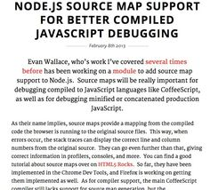 Node.js Source Map Support for Better Compiled... | Badass JavaScript
