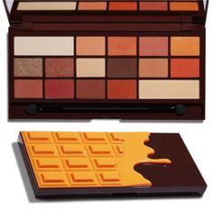 I Heart Makeup Chocolate Orange Revolution Cosmetics, Makeup Revolution Palette, Orange Eyeshadow Palette, Orange Palette, Beauty Makeup, Eye Makeup, Makeup Usa, Beauty Dupes, Makeup Stuff