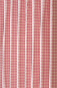 Vichy Sugar Pink, a lovely cotton gingham, would make very pretty curtains for a little girls room. £15 per metre.