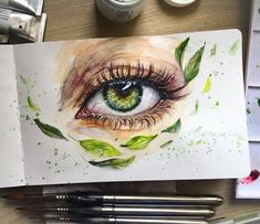 27 New Ideas Amazing Art Painting Canvases Melted Crayons Art Inspo, Kunst Inspo, Realistic Eye Drawing, Drawing Eyes, Art Sketches, Art Drawings, Eye Art, Beautiful Drawings, Art Plastique