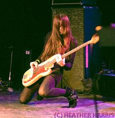 Paz Lenchantin, Bass player for The Pixies, A Perfect Circle and The Entrance Band, pictured above in 2010 at the Jam for Ron Asheton, Hollywood CA Guitar Girl, Music Guitar, Violin, Paz Lenchantin, Good Music, My Music, Rock N Roll, Women Of Rock, Rocker Girl