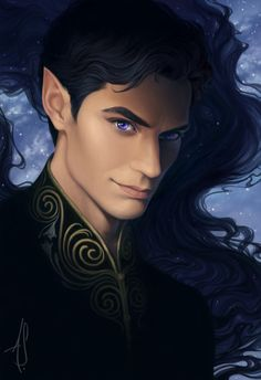 "annashoemaker: ""I've finally found time to work out some feels from A Court of Mist and Fury by Sarah J. Maas. Damn you, Rhys, and your perfect, stupid face!"