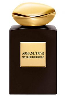 Myrrhe Impériale by Giorgio Armani is a balsamic, warm, smoky Oriental Spicy fragrance featuring myrrh, benzoin, vanilla, amber, pink peppercorn and saffron. - Fragrantica
