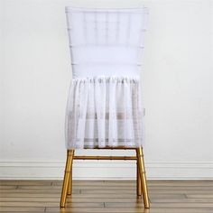 Wholesale Sheer Tulle Tutu Spandex Chair Skirt Cover for Wedding Birthday Party Event Decoration - WHITE - ChairCoverFactory Tulle Table Runner, Tutu Table, Wedding Supplies Wholesale, Spandex Chair Covers, Chair Sashes, Slipcovers For Chairs, Chair Cushions, White Tulle, Tulle Tutu