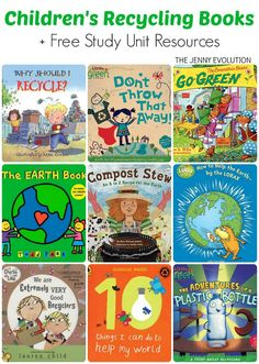 Children's books on Recycling + Free Recycling Study Unit Resources