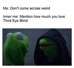 Kermit. Third Eye Blind. I made this meme 12/2/2016.   I'm weird and proud.