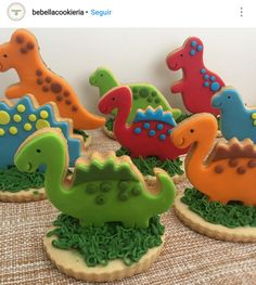 Dinosaur First Birthday, Safari Theme Birthday, Leo Birthday, Kids Birthday Themes, First Birthday Parties, First Birthdays, Dinasour Party, Dinosaur Cookies, Dinosaur Party