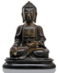 A large bronze figure of seated Buddha China, Ming dynasty, h. 70 cm