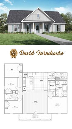 New and Improved David Farmhouse Living Sq Ft: Bedrooms: 4 Baths: 2 Louisiana Lafayette Lake Charles Baton Rouge Metal House Plans, New House Plans, Dream House Plans, Small House Plans, House Floor Plans, Simple Floor Plans, Open Floor Plans, Ranch Style Floor Plans, Modular Floor Plans