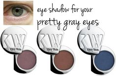 eye shadow colors for gray eyes