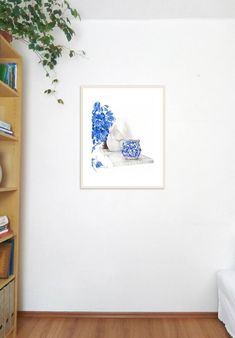 Bright artworks are suitable for white walls. Still life can complement your room decoration and color taste. Bright Rooms, Graphite Drawings, Watercolor Artwork, Vases Decor, Home Decor Styles, Still Life, Saatchi Art, Original Paintings, Illustration Art