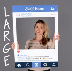 Large/medium Personalised Instagram style by InstaFrameUK on Etsy